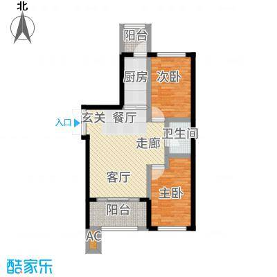 V时代D户型2室1厅