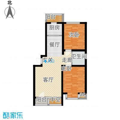 北阳新第85.50㎡第一期G户型2室2厅