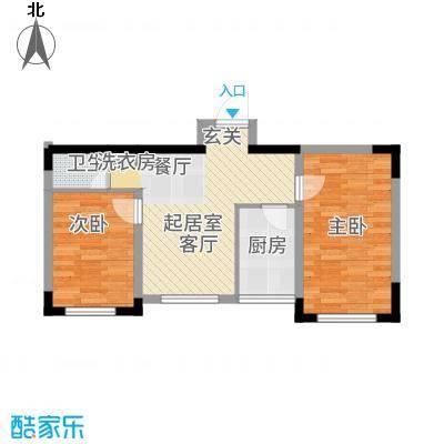 城建世纪佳园65.12㎡B户型2室2厅