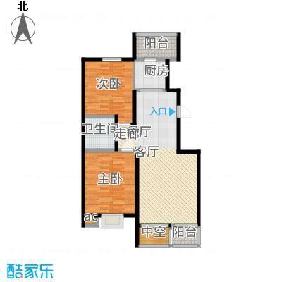 北阳新第93.25㎡第一期J户型2室2厅