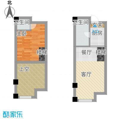 净月五号公馆46.36㎡B户型1室1厅