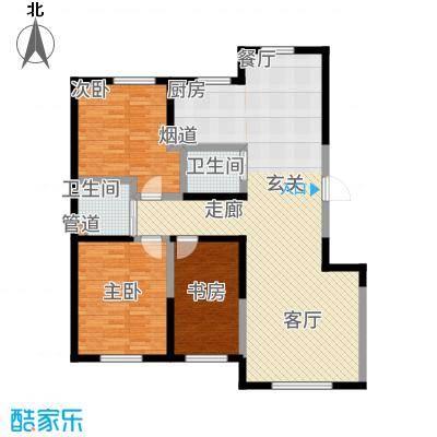 雍达华仁公馆117.10㎡2号楼B户型3室2厅