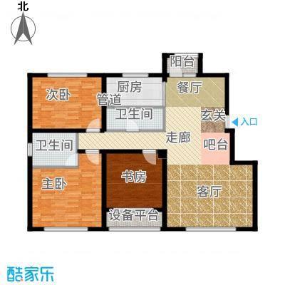 大禹褐石公园120.00㎡B2面积约为户型3室2厅