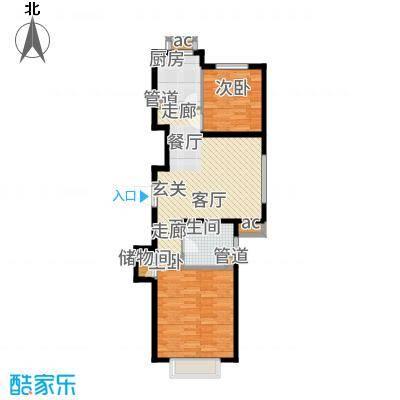 中国城建伦敦公元72.00㎡G2户型2室1厅