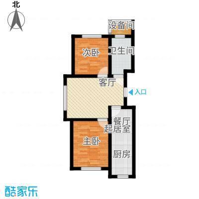 万龙台北明珠72.84㎡C3户型2室2厅