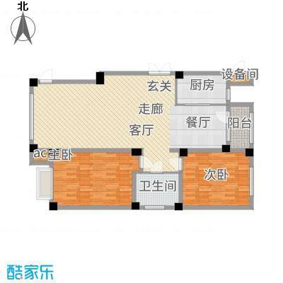中国城建伦敦公元110.00㎡D2户型3室2厅