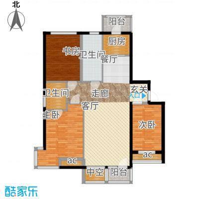 北阳新第115.78㎡第一期A1户型3室2厅