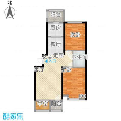 北阳新第90.50㎡第一期I户型2室2厅