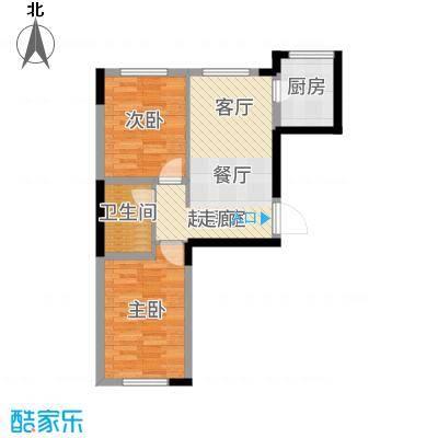城建世纪佳园73.50㎡D-户型2室2厅