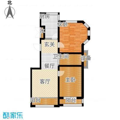 香江铂朗明珠102.01㎡G户型2室2厅