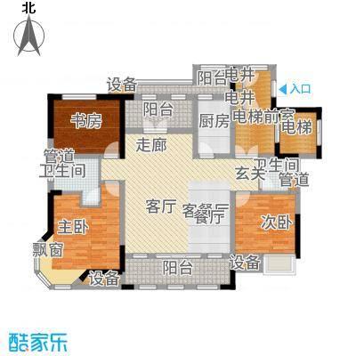 国信御湖公馆128.00㎡B户型3室2厅