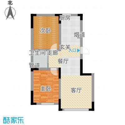 雍达华仁公馆75.00㎡1-4/12/14号楼A户型2室2厅