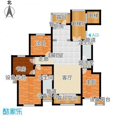昆玉府166.00㎡华友华城国际D2户型4室2厅