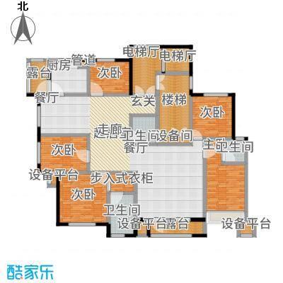 昆玉府213.00㎡华友华城国际C1户型5室2厅