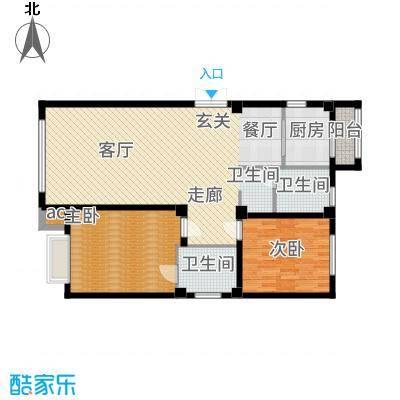 中国城建伦敦公元102.00㎡D1户型2室2厅