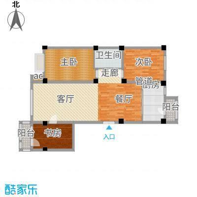 中国城建伦敦公元115.00㎡D3户型3室2厅