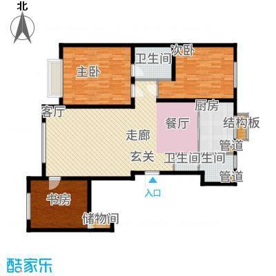 中国城建伦敦公元116.00㎡G8户型3室2厅