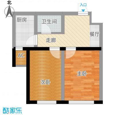 智祥明珠苑52.00㎡G户型2室1厅