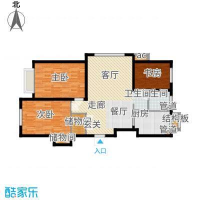 中国城建伦敦公元96.00㎡G6户型3室2厅
