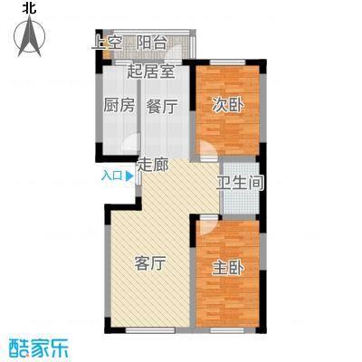 万龙台北明珠89.13㎡A1户型2室2厅