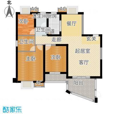 天湖城天源139.00㎡A地块1-5#、7#楼G户型3室2厅