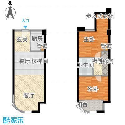 融信海上城43.00㎡1#楼A7户型2室2厅