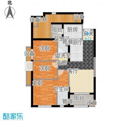 万科广场112.00㎡2#楼03户型3室2厅
