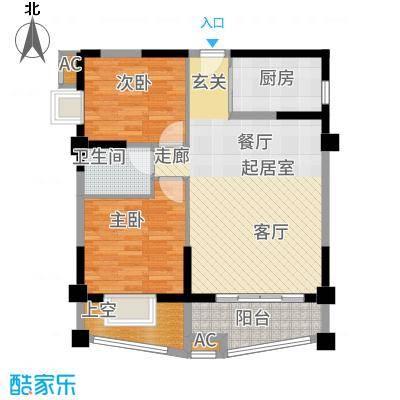天湖城天源89.00㎡A地块1、2、7#楼C户型2室2厅