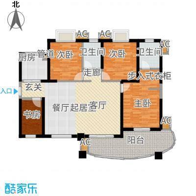 天湖城天源139.00㎡A地块4、5#楼J户型3室2厅