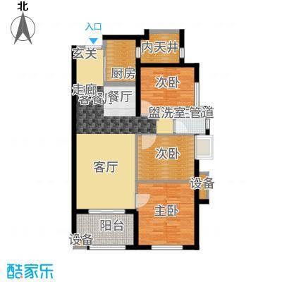 万科广场92.00㎡1#楼03户型3室2厅