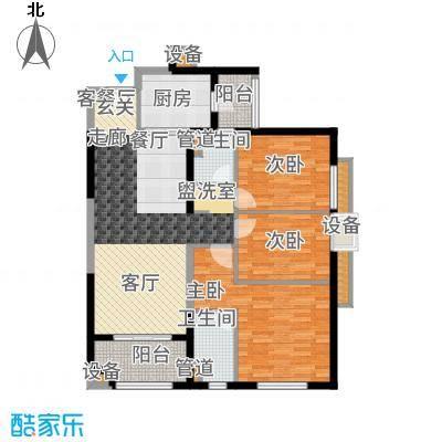 万科广场112.00㎡2#楼02户型3室2厅