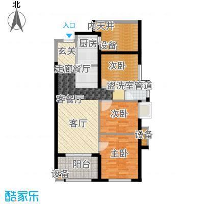 万科广场90.00㎡2#楼04户型3室2厅