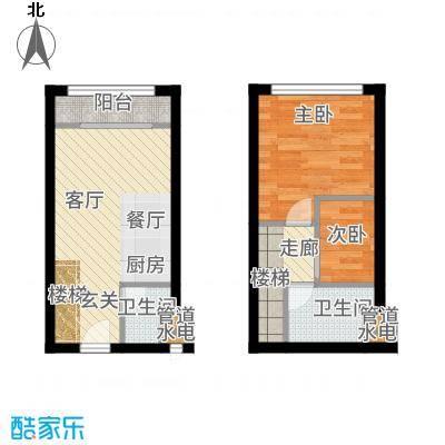 华论国际大厦45.00㎡SOHO居家户型2室2厅