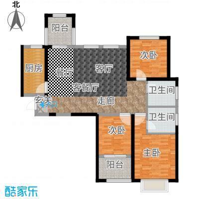 中建悦海和园113.00㎡A户型3室2厅