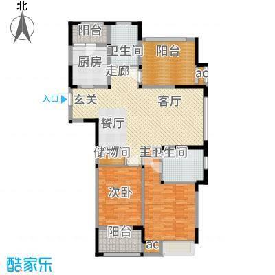 兰陵锦轩118.17㎡8#楼A户型2室2厅