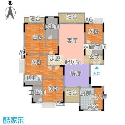 东田翠湖湾二期245.16㎡15/16栋02户型4室2厅
