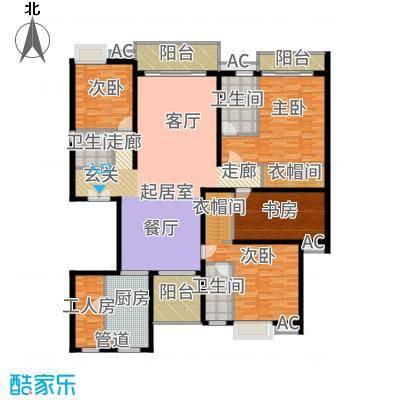东田翠湖湾二期225.48㎡15/16栋01户型4室2厅