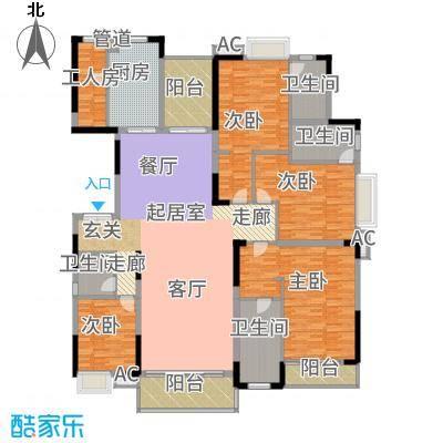 东田翠湖湾二期245.00㎡15栋02户型4室2厅