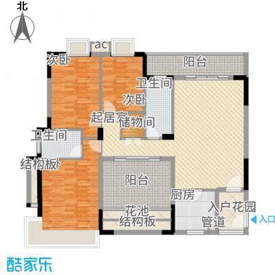 广基自由星城145.00㎡05栋标准层03户型4室2厅