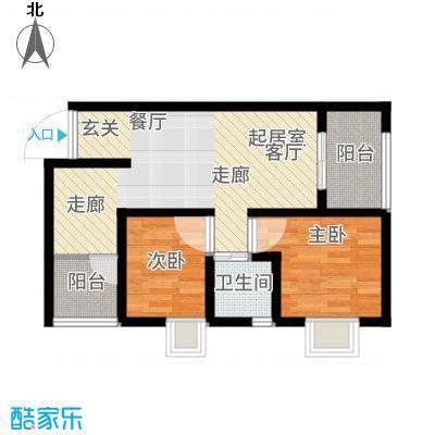 湄公河畔64.86㎡E2户型2室2厅