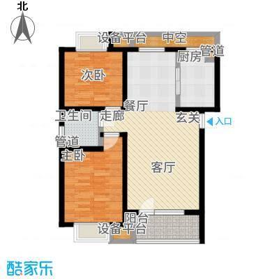 首创国际城95.00㎡3号楼a户型2室2厅