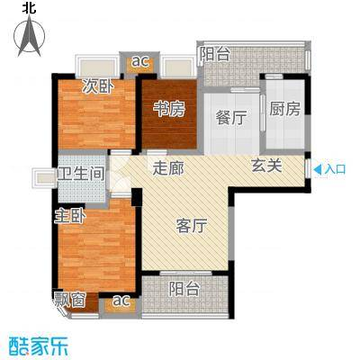 三盛颐景园104.00㎡E1户型