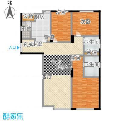 沈阳裕景中心176.00㎡H3户型3室2厅