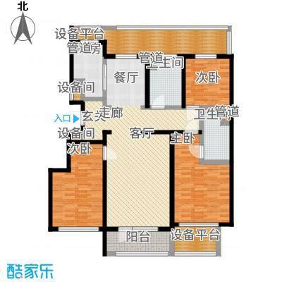 绿城沈阳全运村140.00㎡B2户型3室2厅