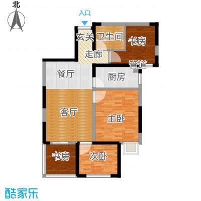 华茂中心89.00㎡高层6户型3室2厅