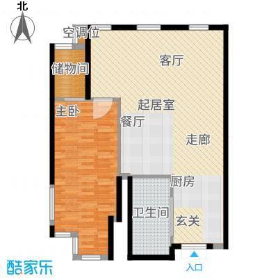 中铁瑞达广场88.00㎡D户型1室2厅