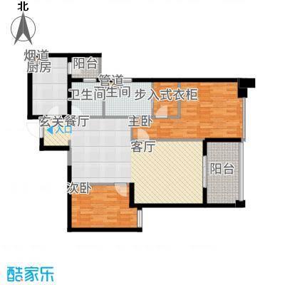 莱蒙时代108.00㎡云顶户型2室2厅