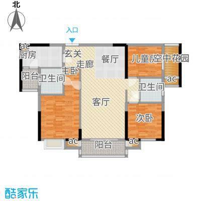 星河国际118.00㎡D户型1室2厅