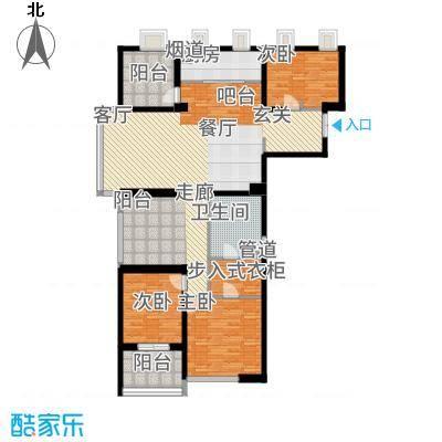 莱蒙时代146.00㎡4#精装B1揽胜户型3室2厅