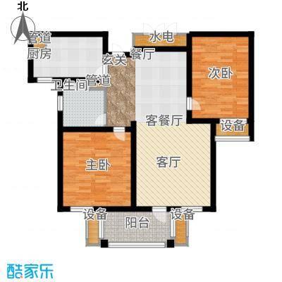 华润国际社区88.00㎡三期F户型2室2厅